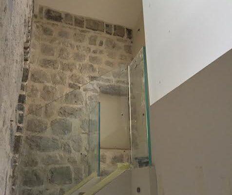 parapetti in cristallo per scale