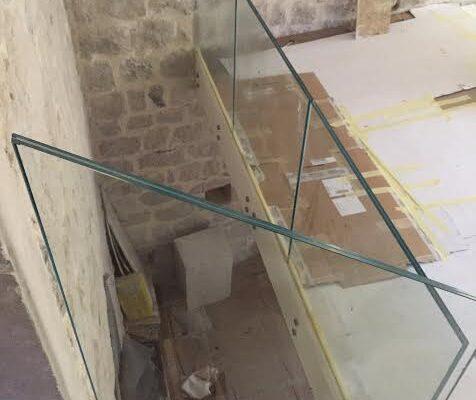 parapetti in vetro per le scale