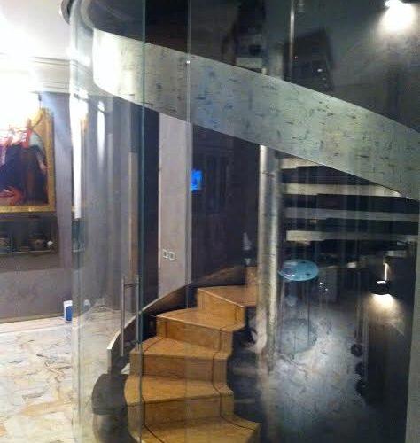 produzione scale a chiocciola in vetro