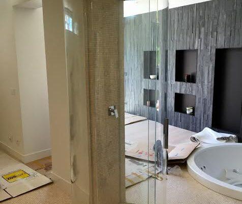 realizzazione box doccia in vetro