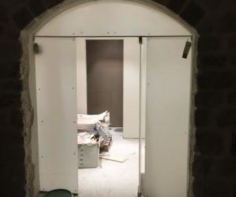 realizzazione porte in vetro