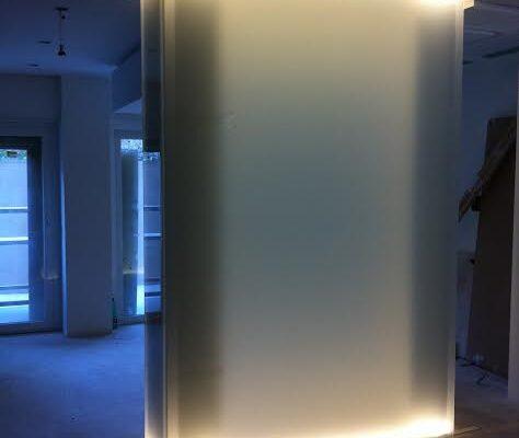 rivestimenti in vetro illuminati